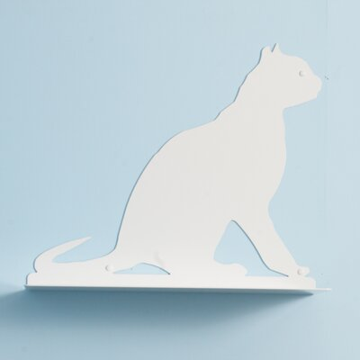 "The Refined Feline 23"" Cat Silhouette Gaze Cat Shelf"