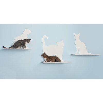 "The Refined Feline 23"" Cat Silhouette Cat Shelf (Set of 3)"