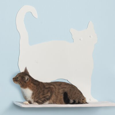 The Refined Feline Cat Silhouette Prance Cat Shelf