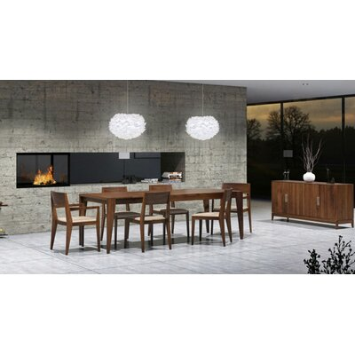 "Copeland Furniture Kyoto 60-84""W 7 Piece Dining Set"