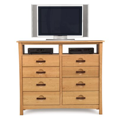 Copeland Furniture Berkeley 8 Drawer Chest with Media Organizer
