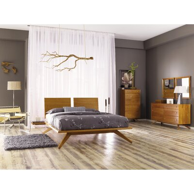 Copeland Furniture Astrid Bedroom Set with 2 Adjustable Headboard Panels