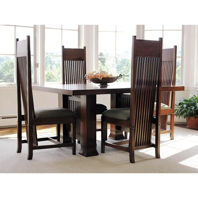 "Copeland Furniture Frank Llloyd Wright Dana-Thomas 60 - 84"" W x 48"" D Extension 5 Piece Dining Set"