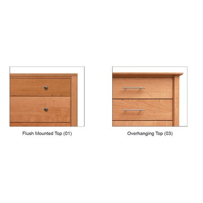 Copeland Furniture Dominion 3 Drawer Chest with Overhanging Top