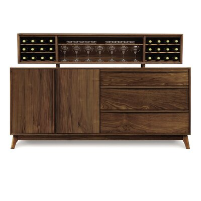 Copeland Furniture Catalina 3 Drawers on Right Buffet with Hutch