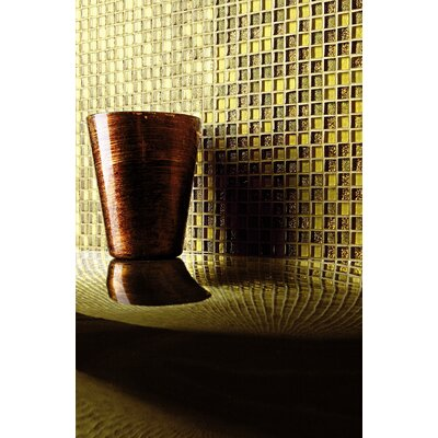 "Casa Italia Crystal-A 11.75"" x 11.75"" Glass Mosaic in Trasparenze Oro"