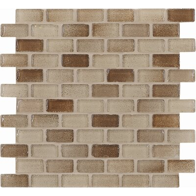 "Casa Italia Fashion 2"" x 1"" Glass Mosaic in Mix Fashion Sand"