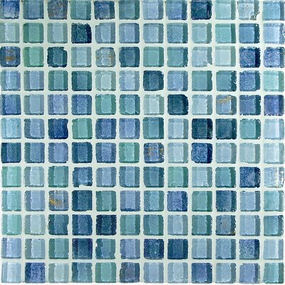 "Casa Italia Fashion 11.75"" x 11.75"" Glass Mosaic in Mix Fashion Azzurro"