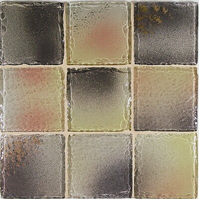 "Casa Italia Fashion 4"" x 4"" Glass Mosaic in Mix Fashion Beige"