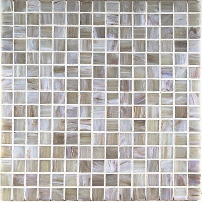 Bronze/Gold Monocolor Glass Mosaic in Grigio Bronze