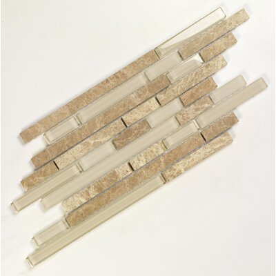 Pure & Natural Random Sized Stone and Glass Mosaic in Pure Light Emperador and Natural ...