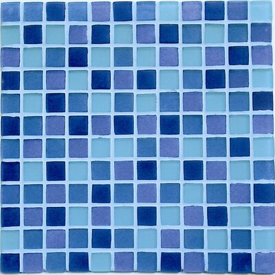 Crystal-A Glass Mosaic in Sky Mix Frosted