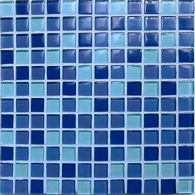 Crystal-A Glass Mosaic in Mix Sky Gloss