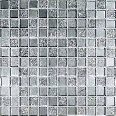 Casa Italia Crystal-A Glass Mosaic in Trasparenze Argento