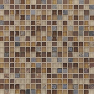 Pure & Natural Natural Stone and Glass Mosaic in Pure Beige and Natural Slate