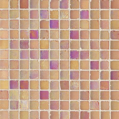 "Casa Italia Metallica Satin 1"" x 1"" Glass Mosaic in Mix Arancio Metallica"