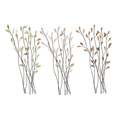 Aspire Floral Metal Wall Decor (Set of 3)