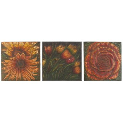 Aspire Flower Wall Plaques (Set of 3)