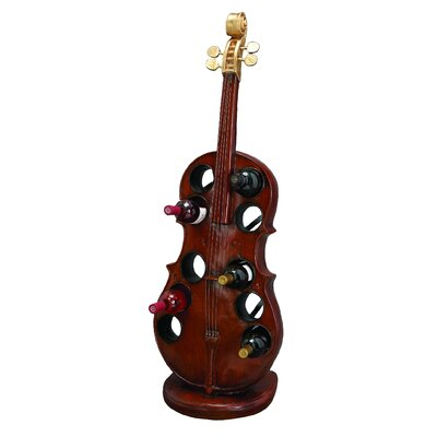 Cello Statue 10 Bottle Wine Rack