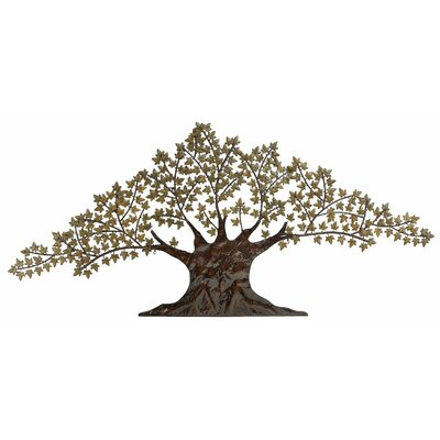Large Metal Maple Tree Wall Decor