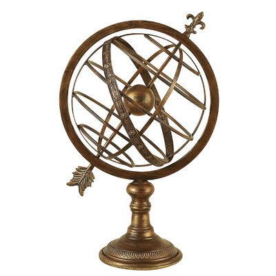 <strong>Aspire</strong> Antique Brass Armillary Sphere Sculpture