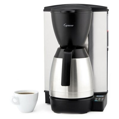 10-Cup Programmable Coffeemaker with Stainless-Steel Thermal Carafe