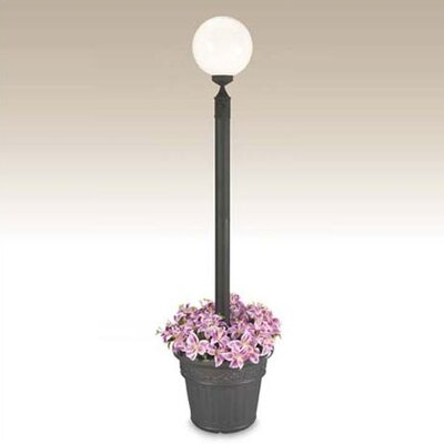 "Patio Living Concepts European 1 Light 65"" Outdoor Post Lantern Set with Planter"