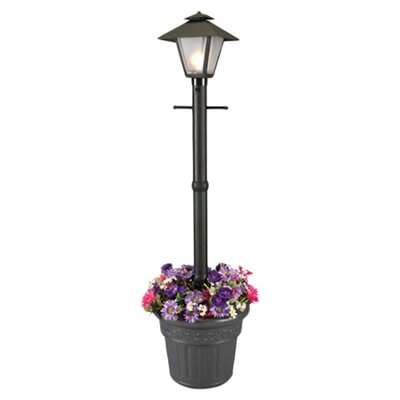 "Patio Living Concepts Cape Cod 1 Light 80"" Outdoor Post Lantern Set with Planter"