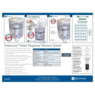Greenway Water Dispenser Filtration System in White
