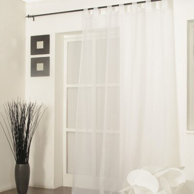 Loescher Ardison Genuine Voile Tab Top Curtain