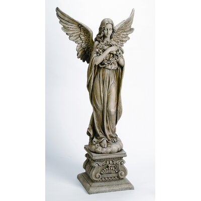 Roman, Inc. Angel Holding Wreath Statue