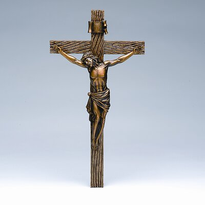 "Roman, Inc. 20"" Crucifix in Antique Gold"