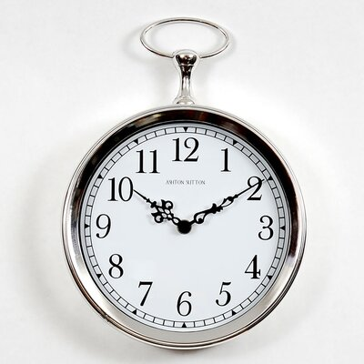 "Ashton Sutton 10"" Pocket Watch Wall Clock"
