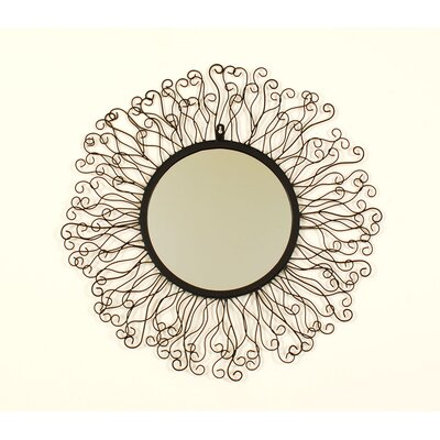 Ashton Sutton Round Metal Mirror with Rays