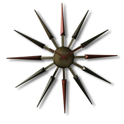 Ashton Sutton Mid Century Retro Wall Clock