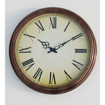 Ashton Sutton Wall Clock in Coppertone
