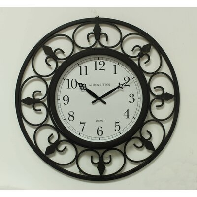 Ashton Sutton Indoor/Outdoor Wall Clock