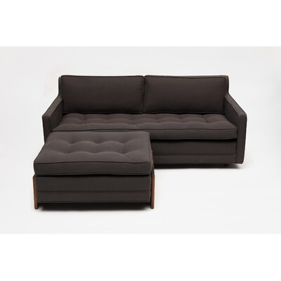 UP Two Seater with Ottoman in Graphite