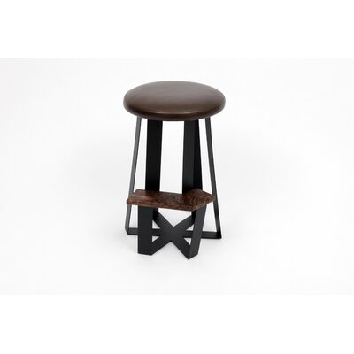 ARTLESS Counter Stool with Leather Top