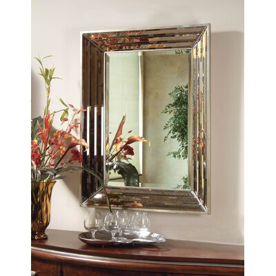 Jewels Wall Mirror - Silver Leaf