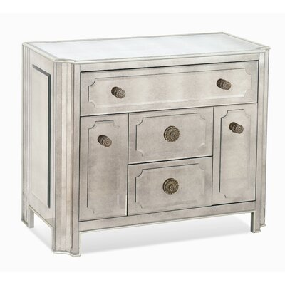 Bassett Mirror Regency 4 Drawer Chairside Chest