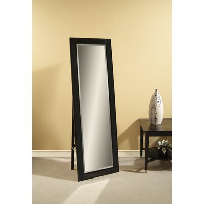 Bassett Mirror Onyx Cheval - Black Glass