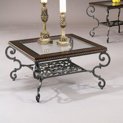 Wrought iron coffee table wayfair for Square wrought iron coffee table