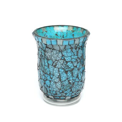 Amber Home Products Blue Moon Glass Hurricane
