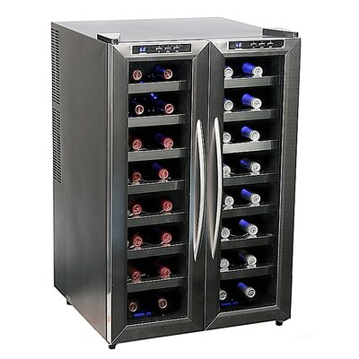 32 Bottle Dual Zone Thermoelectric Wine Refrigerator