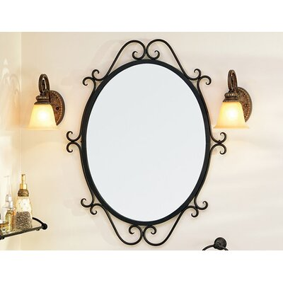 Granada Oval Scroll Mirror