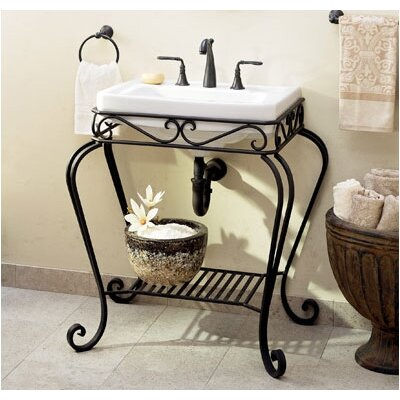 Orleans Console Stand in Black with Richmond Petite Sink