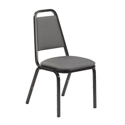 Virco Charcoal Black Stacking Chair with Dome Seat