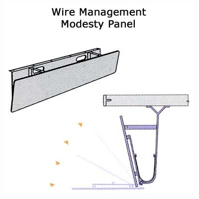 "Virco Plateau Series 72"" Wire Management/Modesty Panel"