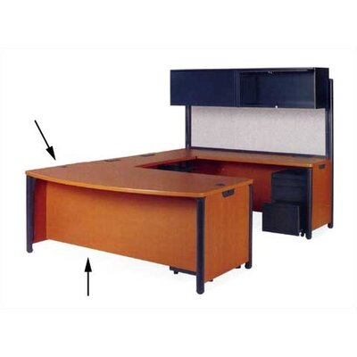 "Virco Plateau Office 72"" W Bow Front Executive Desk"